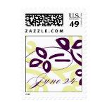 June 24, wedding monogram postage stamps