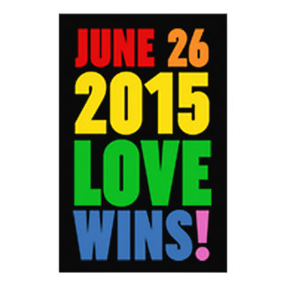 JUNE 26, 2015. LOVE WINS! STATIONERY