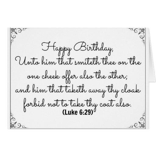 June 29 Bible Birthday card with Luke verse