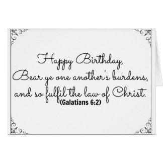 June 2 Bible Birthday Card with Galatians Verse