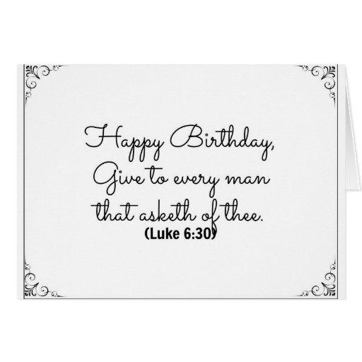 June 30 Bible Birthday card with Luke verse