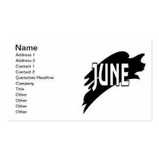 June 3 Double-Sided standard business cards (Pack of 100)