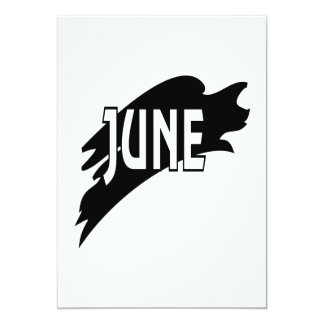 June 3 5x7 paper invitation card