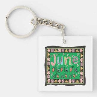 June 4 Single-Sided square acrylic keychain