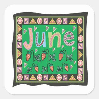 June 4 square sticker