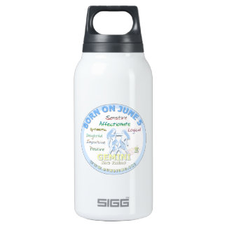 June 5th Birthday - Gemini 10 Oz Insulated SIGG Thermos Water Bottle