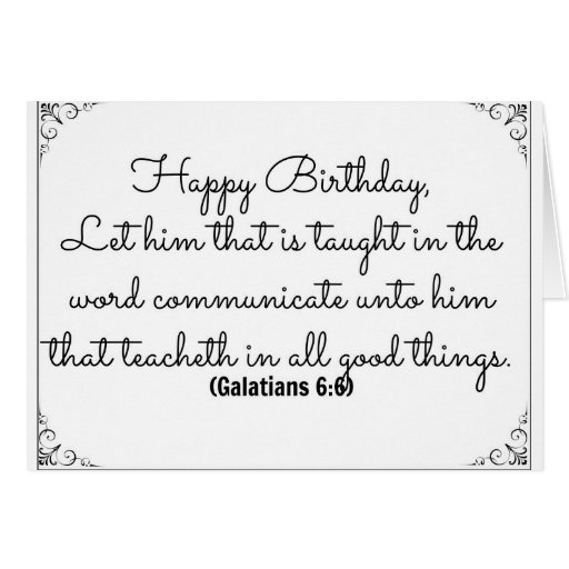 June 6 Bible Birthday Verse with Galatians verse Greeting Cards