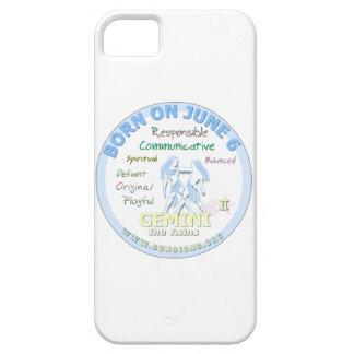 June 6th Birthday - Gemini iPhone SE/5/5s Case