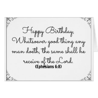June 8 Bible Birthday card with Ephesians verse