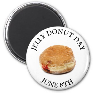JUNE 8TH Jelly Donut Day Food Holiday Magnet