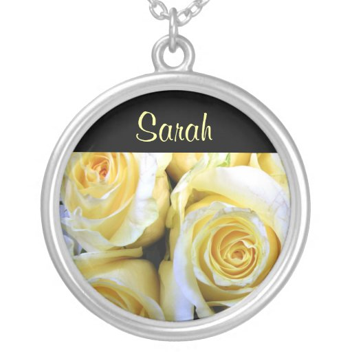 JUNE Birth Flower - Yellow Rose Necklace