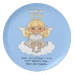 June Birthstone Angel Blonde Dinner Plates