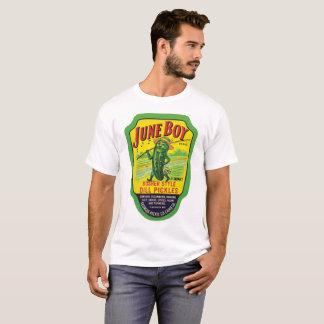 June Boy Brand Vintage Kosher Dill Pickles Labels T-Shirt