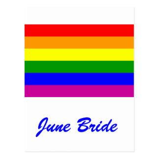 June Bride/Gay Pride Postcards