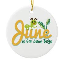 June Bug Ceramic Ornament