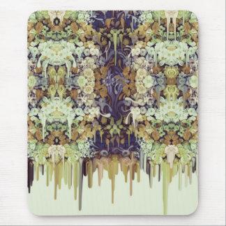 June Bug, melting floral pattern Mouse Pad