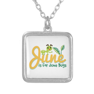 June Bug Square Pendant Necklace