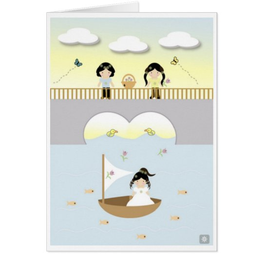 June & Buggie are at the bridge Card