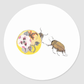 June Bugs Play Hide and Go Seek Classic Round Sticker