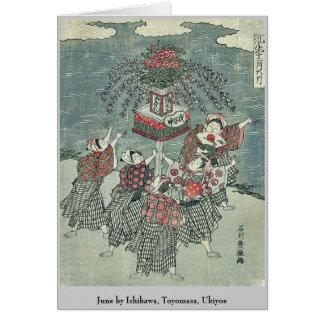 June by Ishikawa Toyomasa Ukiyoe Greeting Card