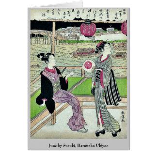 June by Suzuki Harunobu Ukiyoe Card