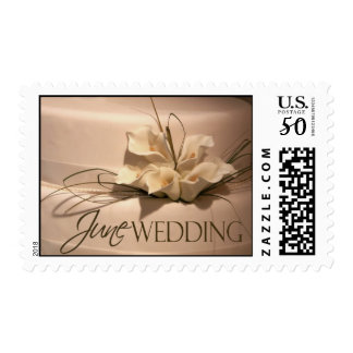 June Calla Lily Wedding Cake Postage