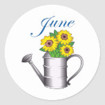 JUNE FLOWERS ROUND STICKERS