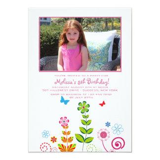 June Garden Photo Invitation