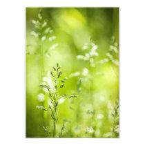 June green grass flowering card