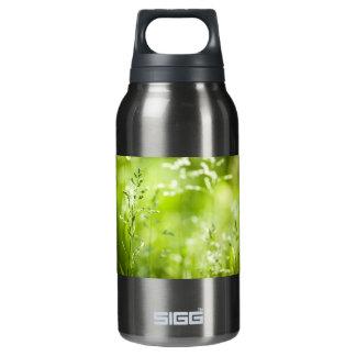 June green grass flowering insulated water bottle
