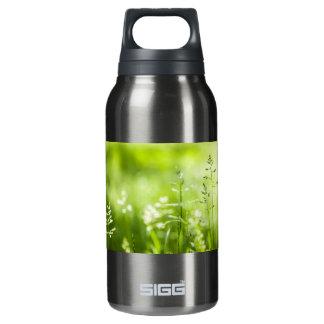June green grass flowering thermos bottle
