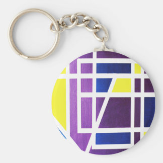 JUNE in Abstract Word or Text Art Keychain