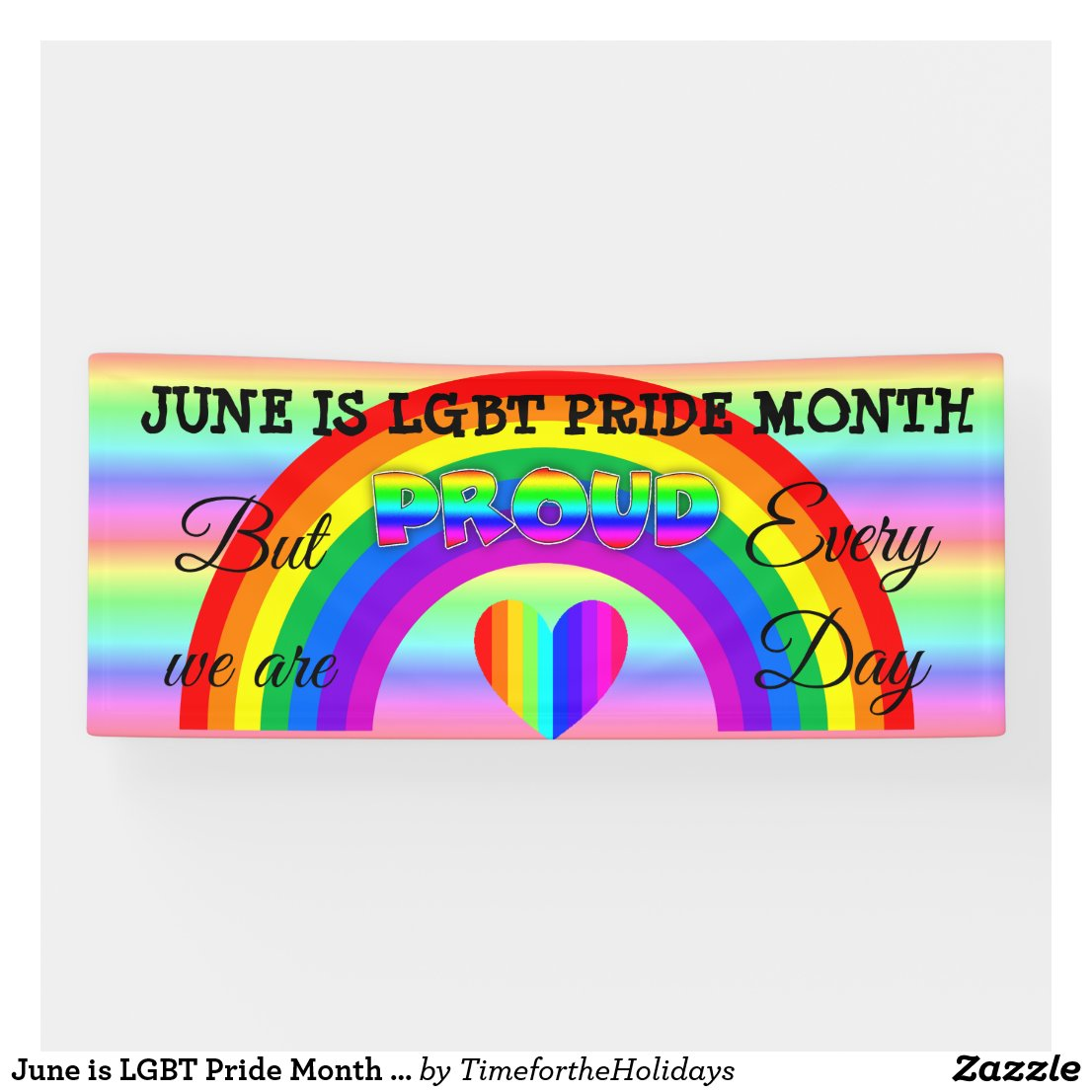 June is LGBT Pride Month Button Banner