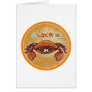 June & July - Zodiac Sign - Cancer Greeting Card