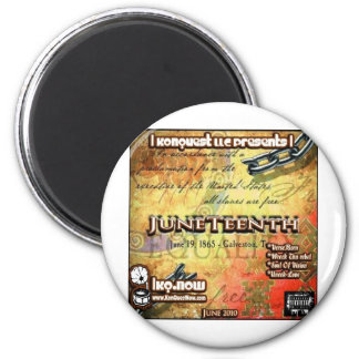 June - JuneTeenth 2 Inch Round Magnet