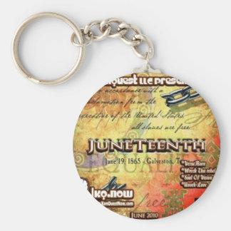 June - JuneTeenth Basic Round Button Keychain