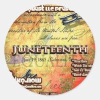 June - JuneTeenth Classic Round Sticker