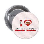 June Lake, CA Pinback Button