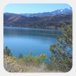 June Lake, California Square Sticker