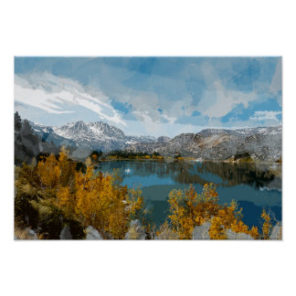 June Lake in Sierra Nevada Range of California Poster