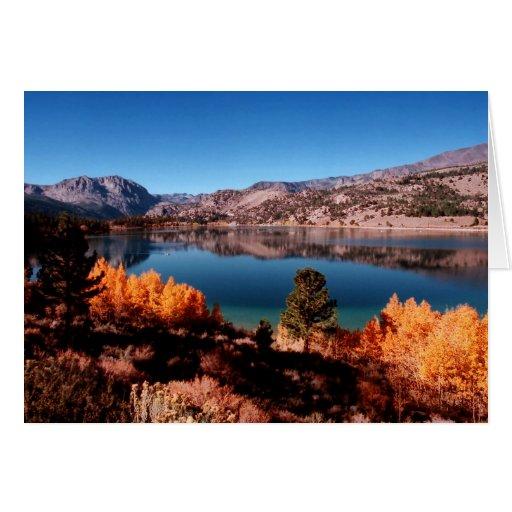 June Lake, Mammoth California Nature Card