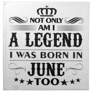 June month Legends tshirts Cloth Napkin