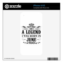 June month Legends tshirts iPhone 4S Skin