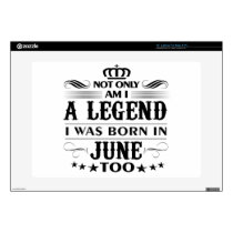 June month Legends tshirts Laptop Decals