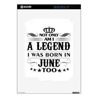 June month Legends tshirts Skin For The iPad 2