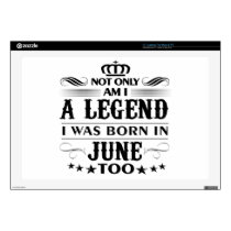 June month Legends tshirts Skins For Laptops