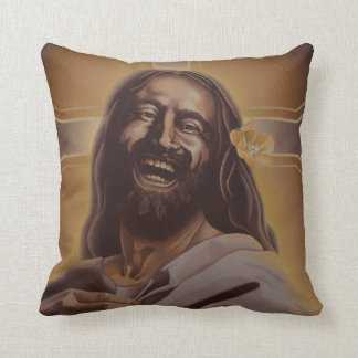 June Moon's Laughing Jesus Pillow