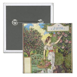 June Pinback Button