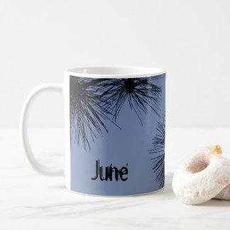 June Pine Shadow Blue Coffee Mug by Janz