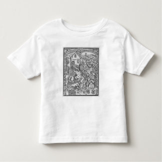 June, sheep shearing, Gemini Toddler T-shirt
